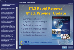 ITLS Rapid Renewal 8th Edition Provider Update Course screenshot